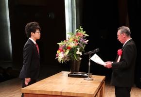 令和元年度入学式での三扇賞表彰式