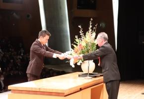 平成30年度学位授与式での三扇賞表彰式